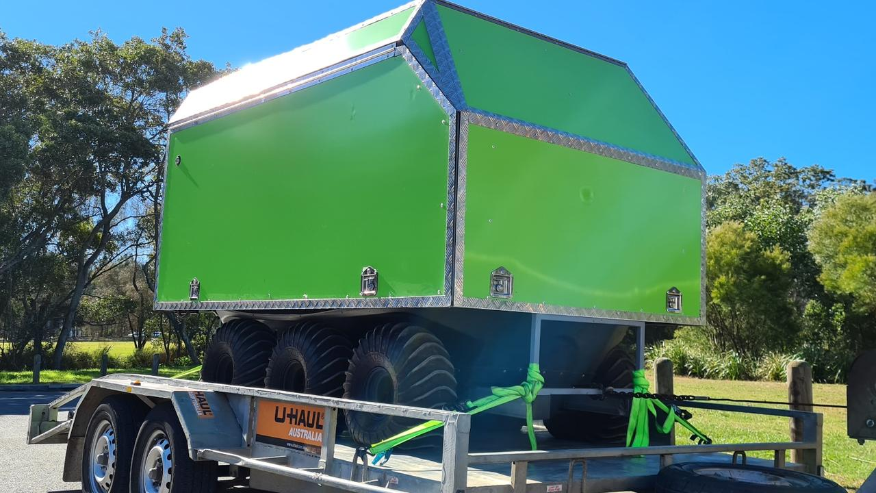 A Skygrow Growbot ready to roll for National Tree Day at Doonan Creek.
