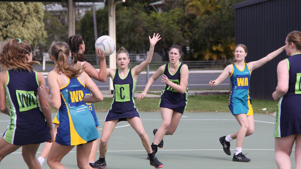 COURT ACTION: The return of competition which was held under strict pandemic guidelines was enthusiastically embraced by players, teams, coaches and fans of the Lismore District Netball Association on Saturday July 18, 2020. Photo: Alison Paterson.