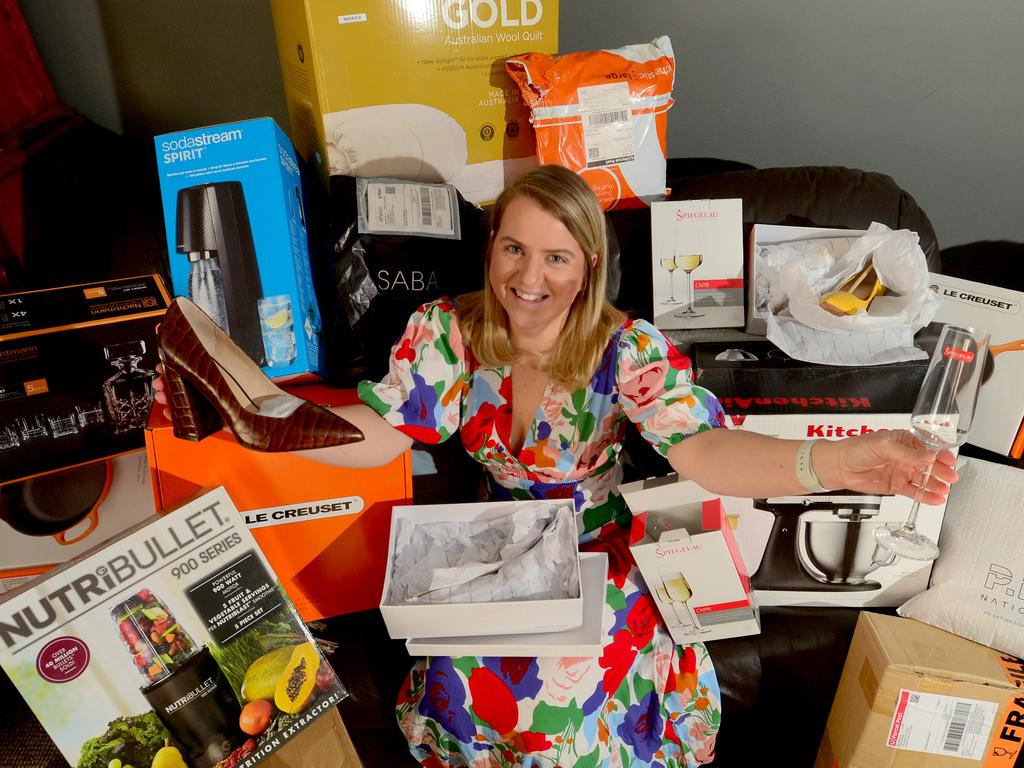 Clara Bartlett saves and plans for online shopping events and will be looking for homewares this Click Frenzy. Picture: Sam Wundke
