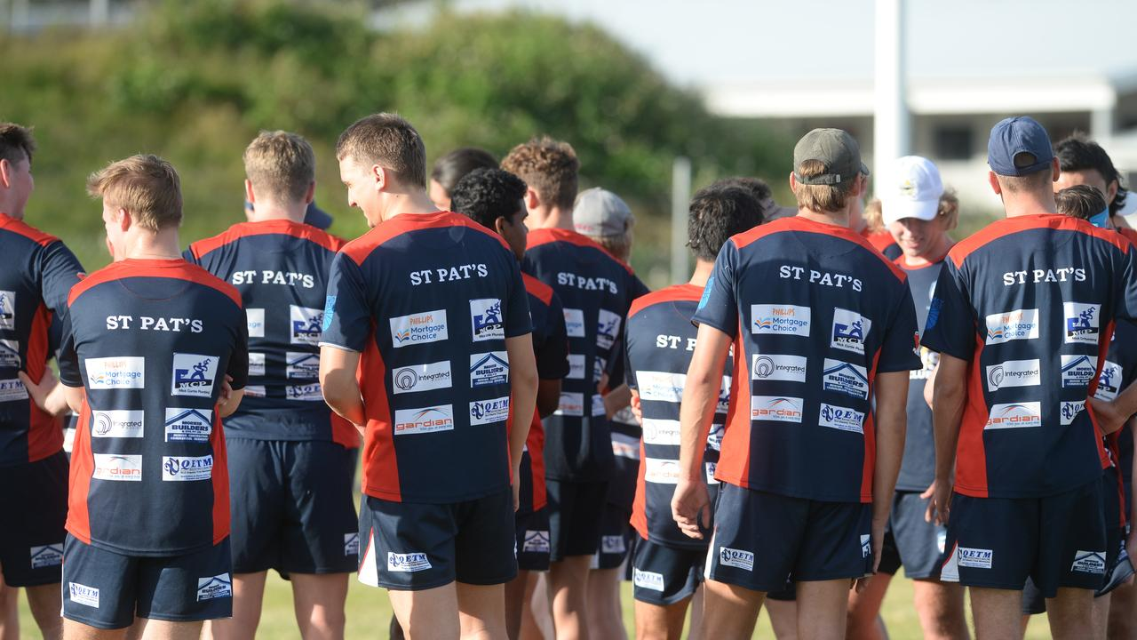 St Patrick's College Mackay hit the training track ahead of the Langer Cup qualifier clash with Rockhampton Grammar School.