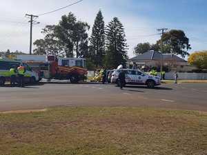 Woman cut from car after crash at Drayton intersection