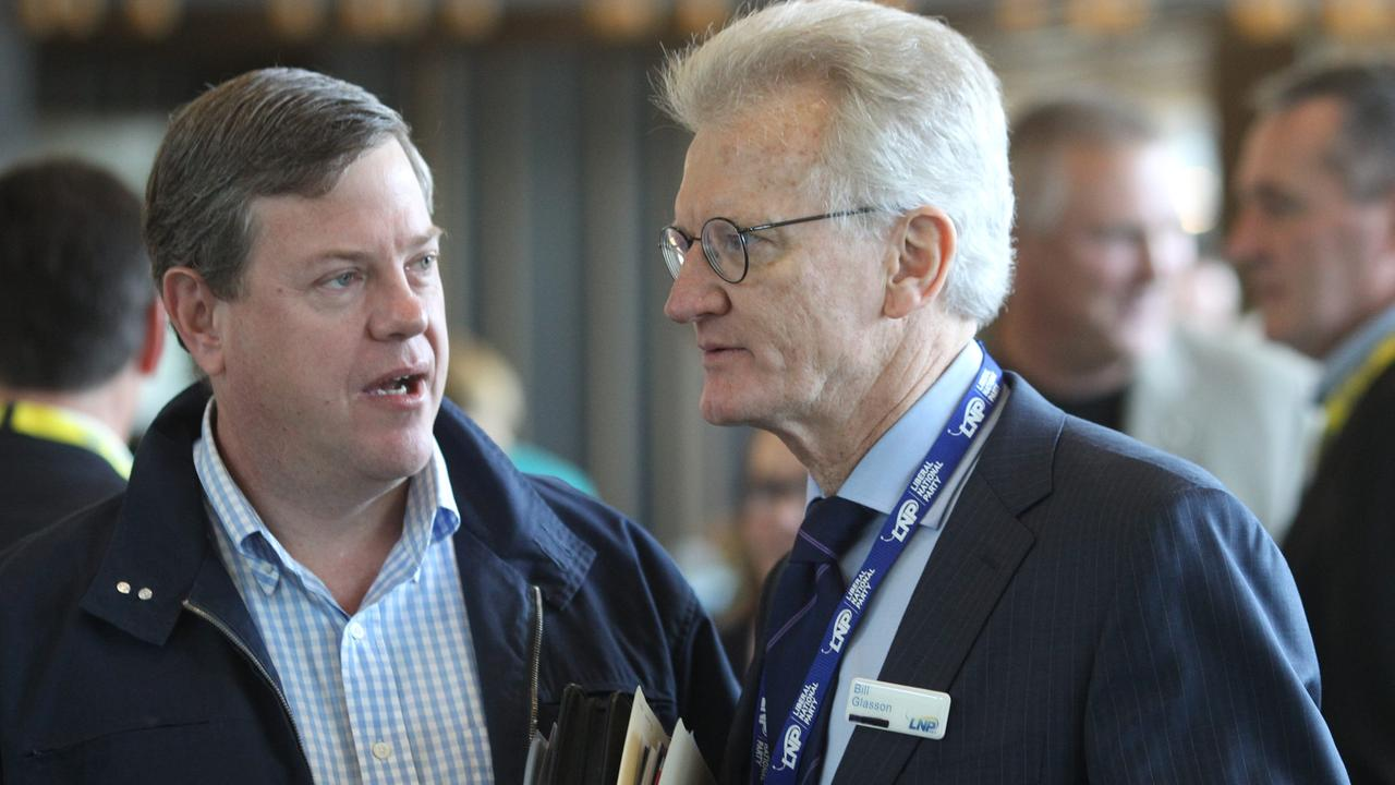 Dr Bill Glasson (right) is being talked about as a possible future president of the LNP. Picture: Adam Smith
