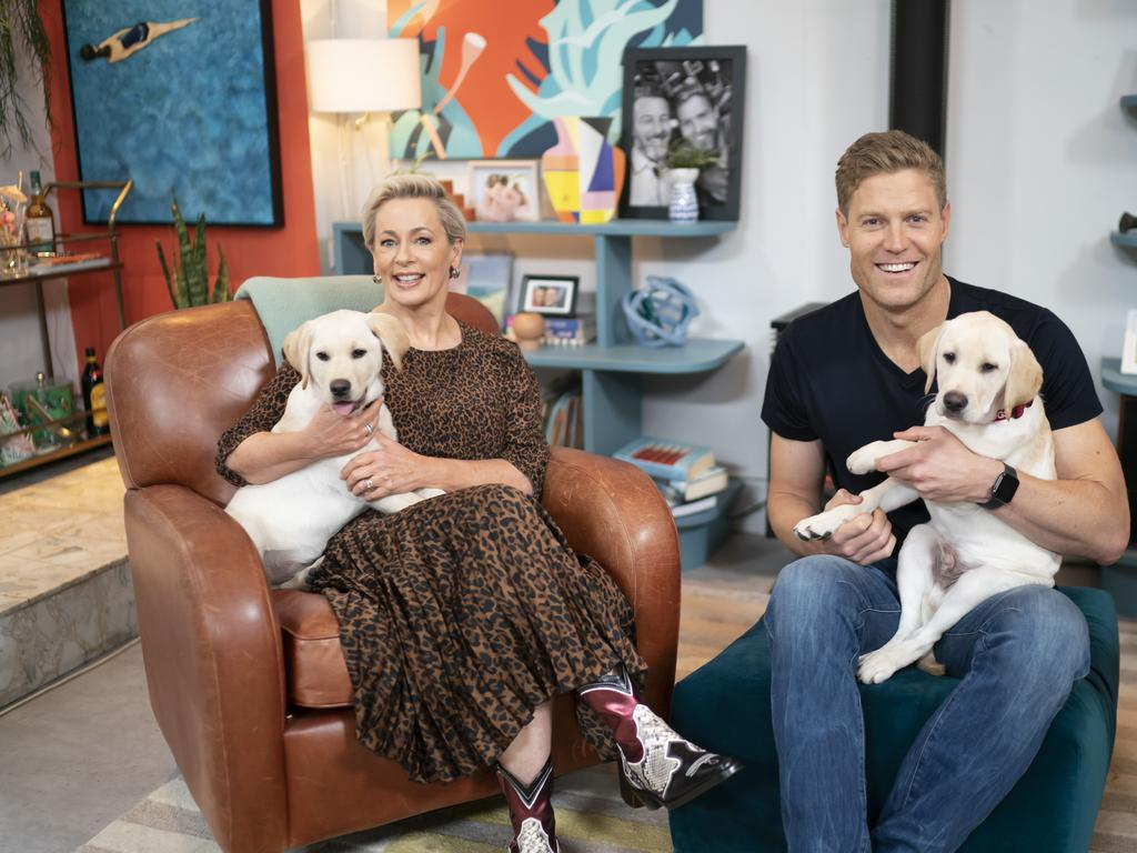 ACTION: Amanda Keller and Dr Chris Brown plus the rest of The Living Room team have teamed up to renovate Animal Rights and Rescue shelter in South Lismore.
