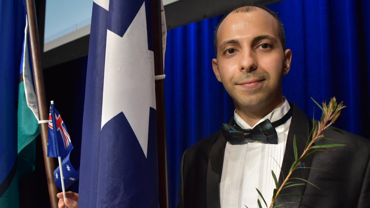 Iraqi refugee and doctor Marwan Shawki became an Australian citizen at a ceremony held by Mackay Regional Council at the MECC on Monday July 20.