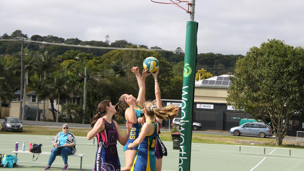 The return of competition which was held under strict pandemic guidelines was enthusiastically embraced by players, teams, coaches and fans of the Lismore District Netball Association on Saturday July 18, 2020. Photo: Alison Paterson.