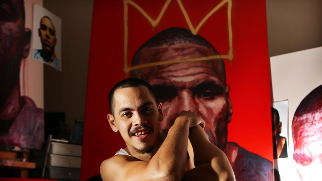 Artist Abdul Abdullah is a four-time Archibald Prize finalist, including his portrait of Anthony Mundine in 2013.