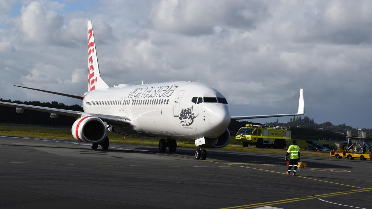 RETURN: Virgin Airlines returned to the runways of Ballina Airport earlier this month.