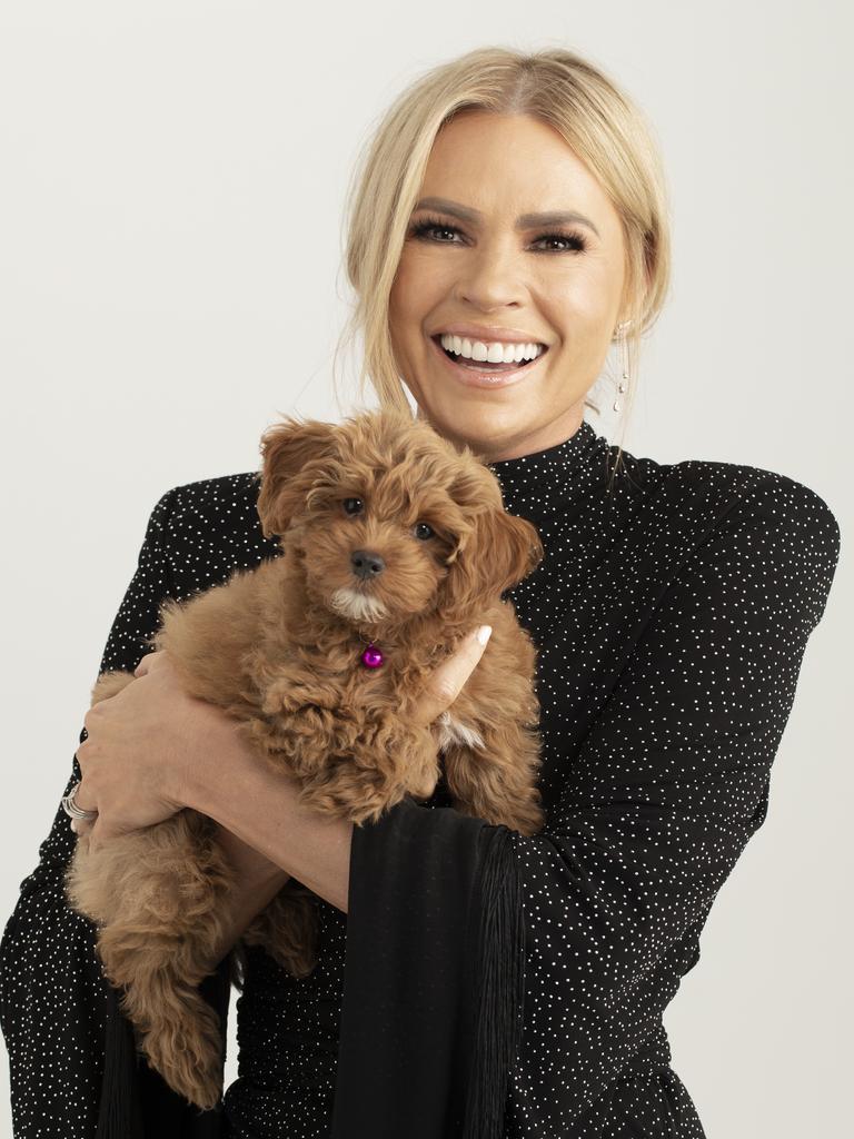 Big Brother 2020 host Sonia Kruger and her beloved cavoodle Teddy.