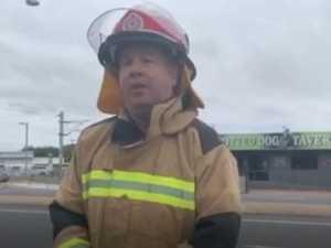 Fireys talk about demolition