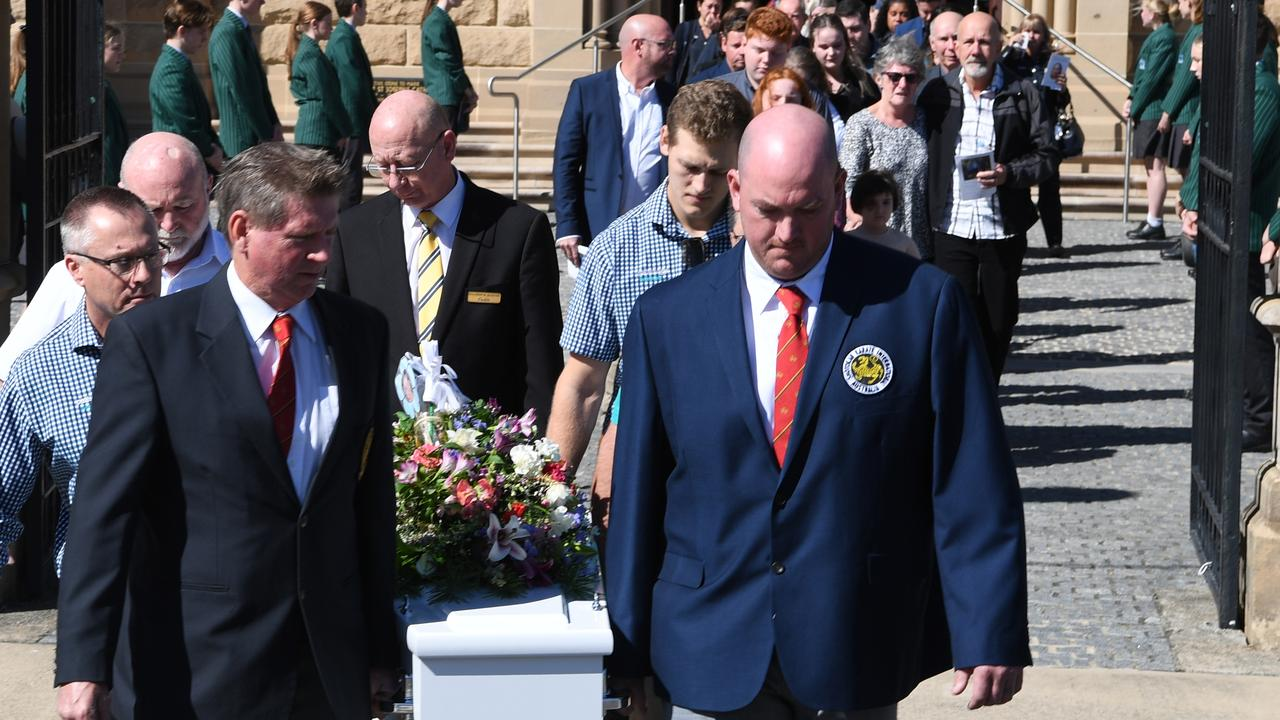Karen Gilliland is laid to rest at St Joseph's Cathedral Rockhampton on July 7, 2020.
