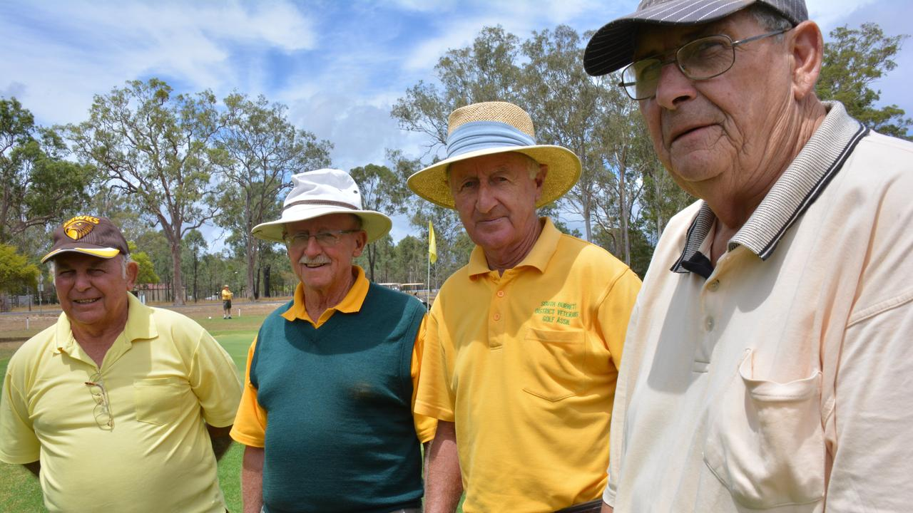 Veteran golfers James Wright, Royce Bell, Tim Robe, Peter Delaney at a veterans golf day. (Picture: File)