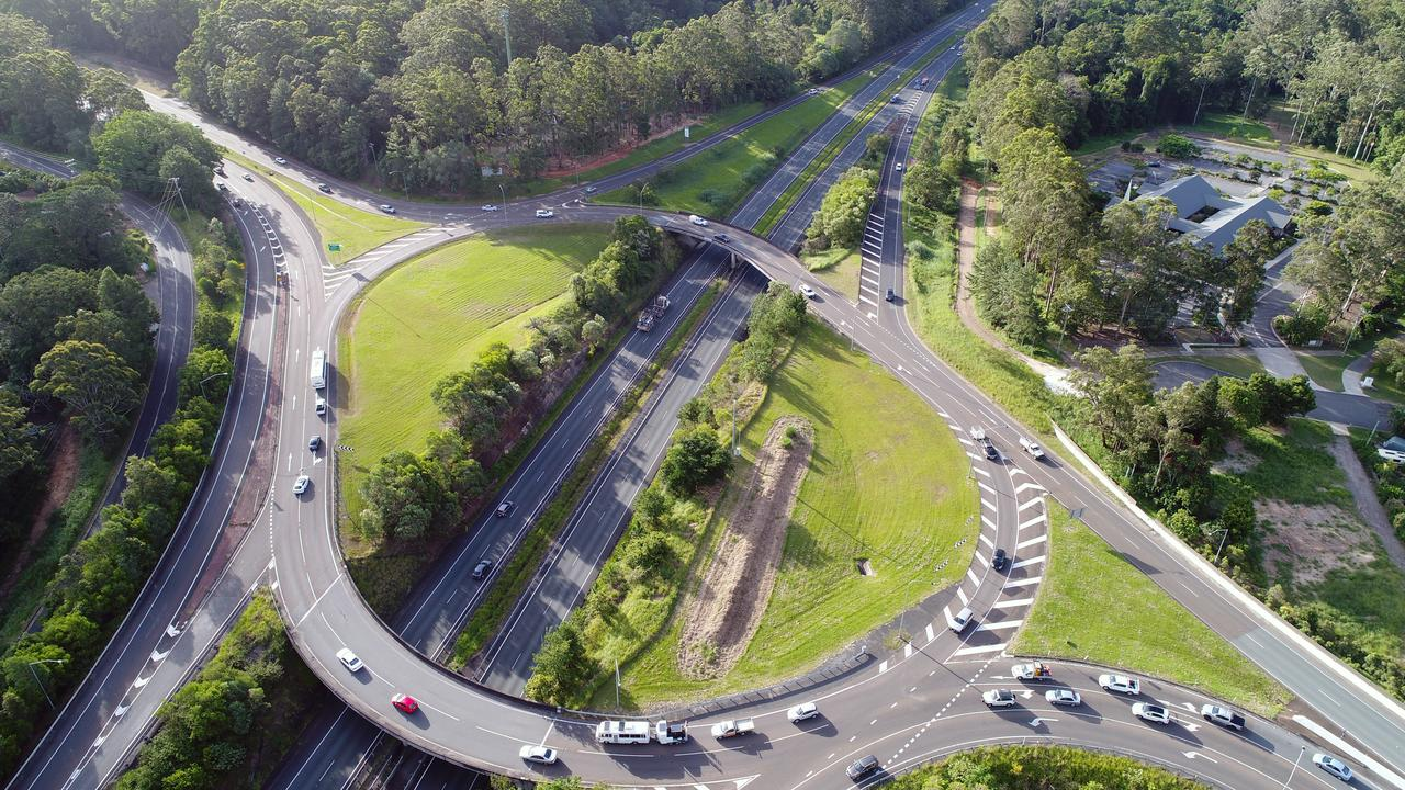 The Maroochydore Rd/Bruce Highway interchange. Photo Patrick Woods / Sunshine Coast Daily.