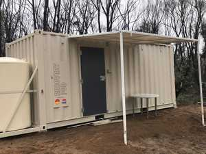 Mining magnate delivers 'pods' for bushfire victims