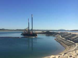 Dredging to enhance and protect Coast beach