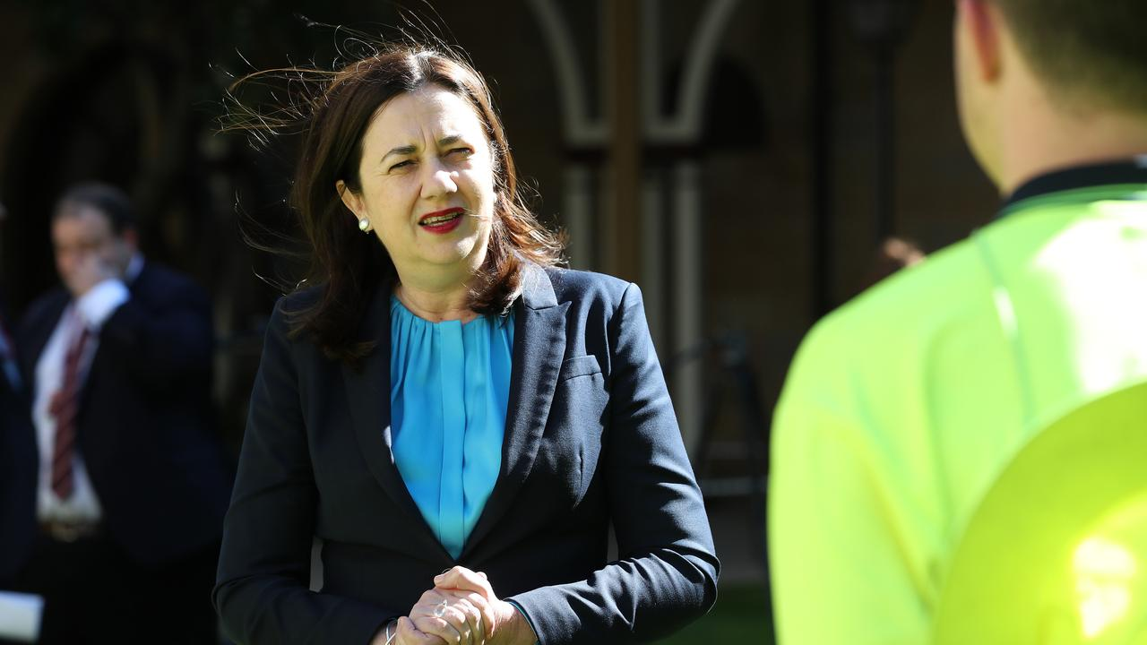 Premier Annastacia Palaszczuk at a press conference at Parliament. Pics Tara Croser.