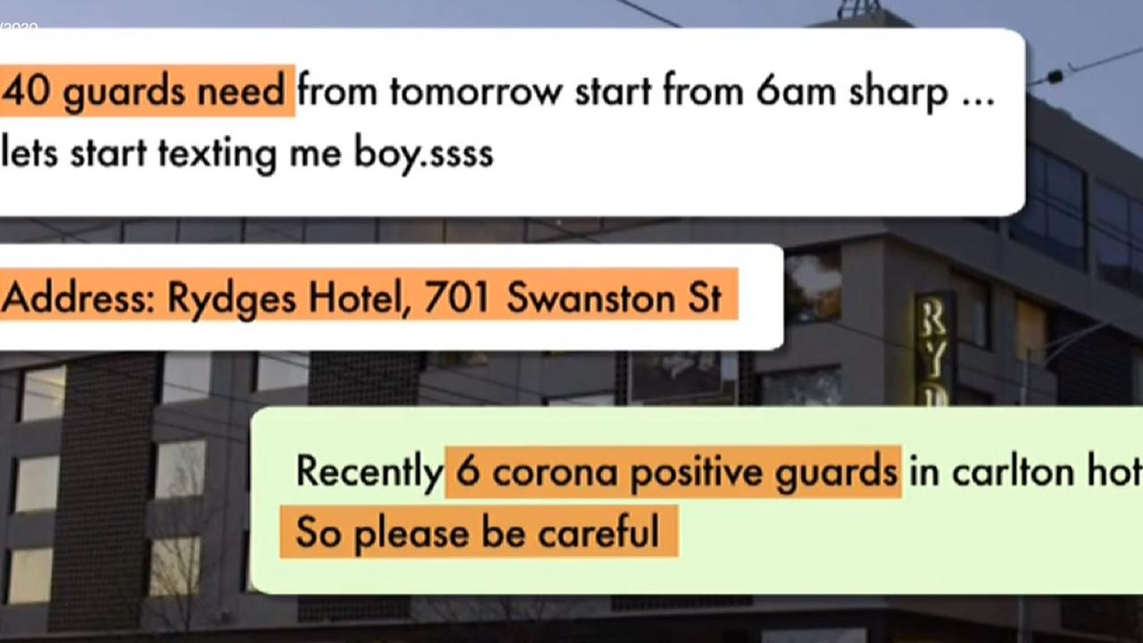 Whats app messages received by Shayla Shaksi. Picture: ABC