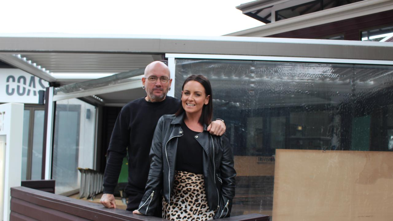 Dan and Steph Mulheron started renovations on Wednesday at their new restaurant.
