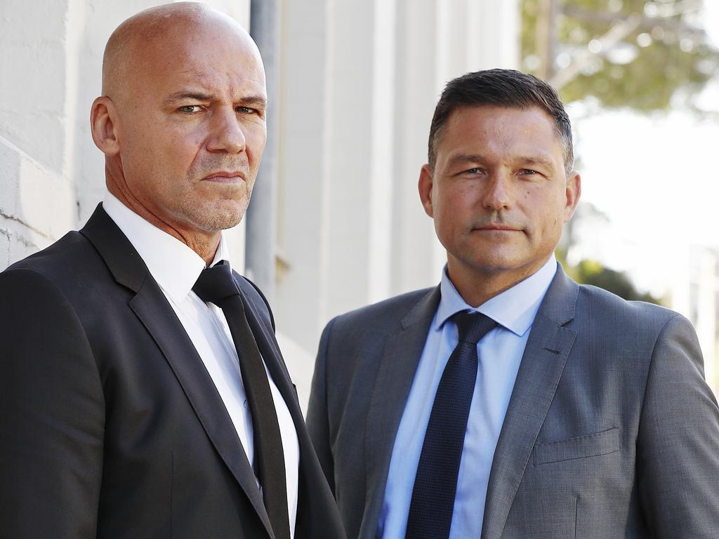Gary Jubelin (left) and Mark Zdjelar. Picture: Sam Ruttyn