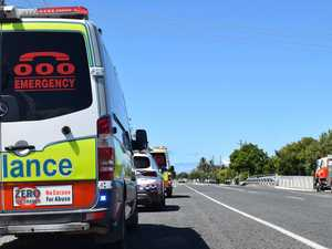 UPDATE: Two men hospitalised after CQ highway smash