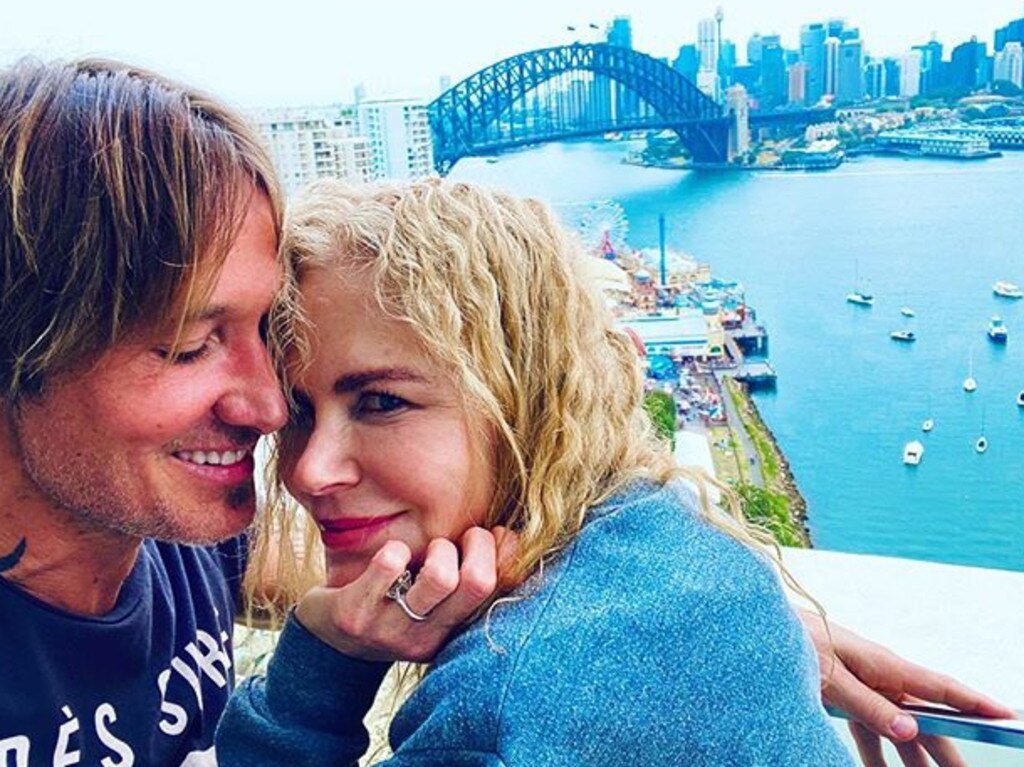 Nicole Kidman and Keith Urban at their Sydney home. Picture: NicoleKidman/Instagram