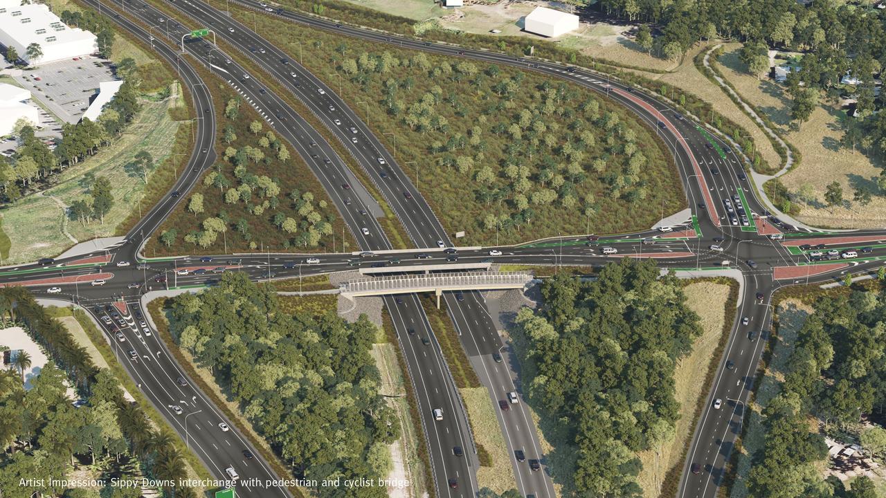 Sippy Downs Interchange: Concept design of the pedestrian/cyclist bridge.