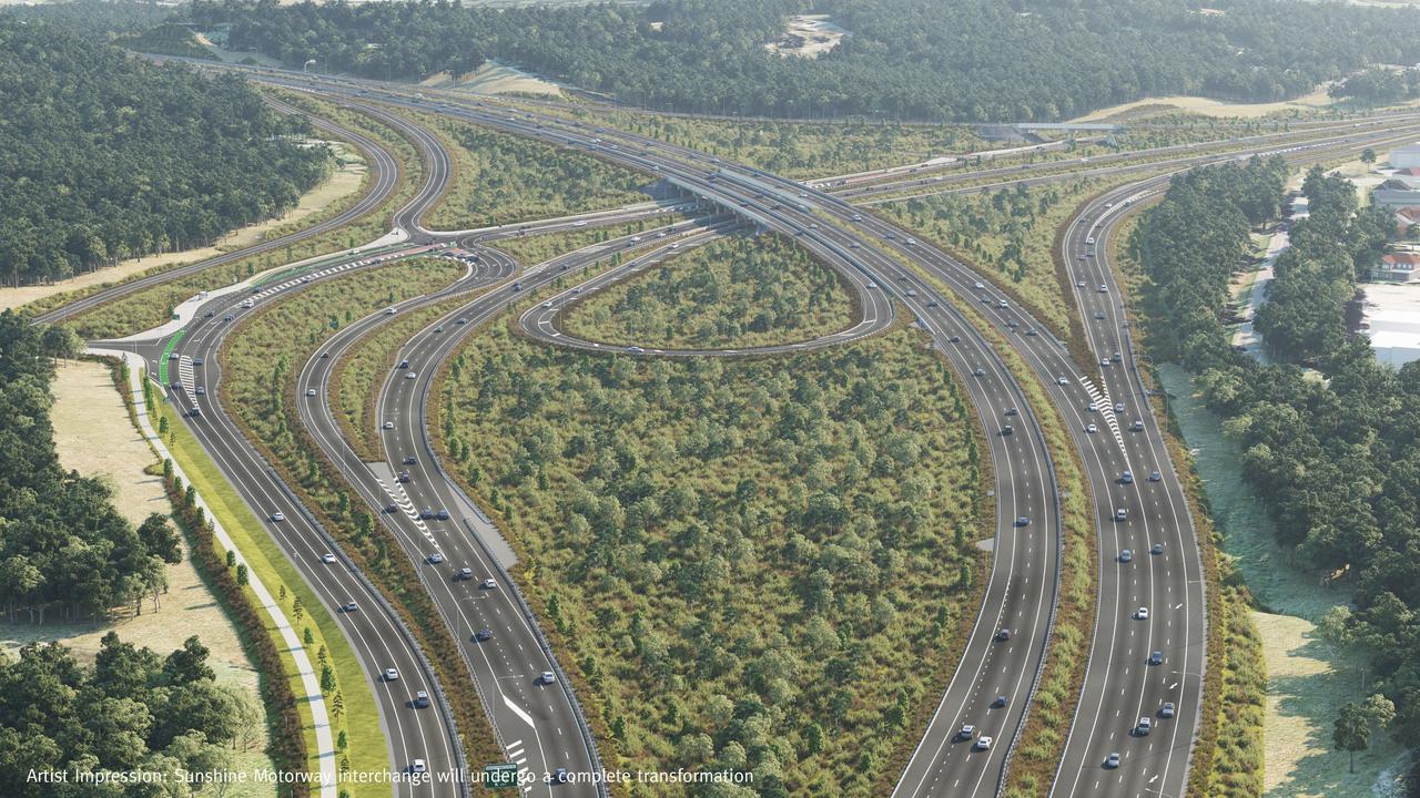 Artist impression of the Sunshine Motorway interchange transformation.