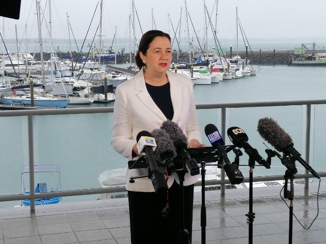 Queensland Premier Annastacia Palaszczuk speaking at the Hervey Bay Boat Club