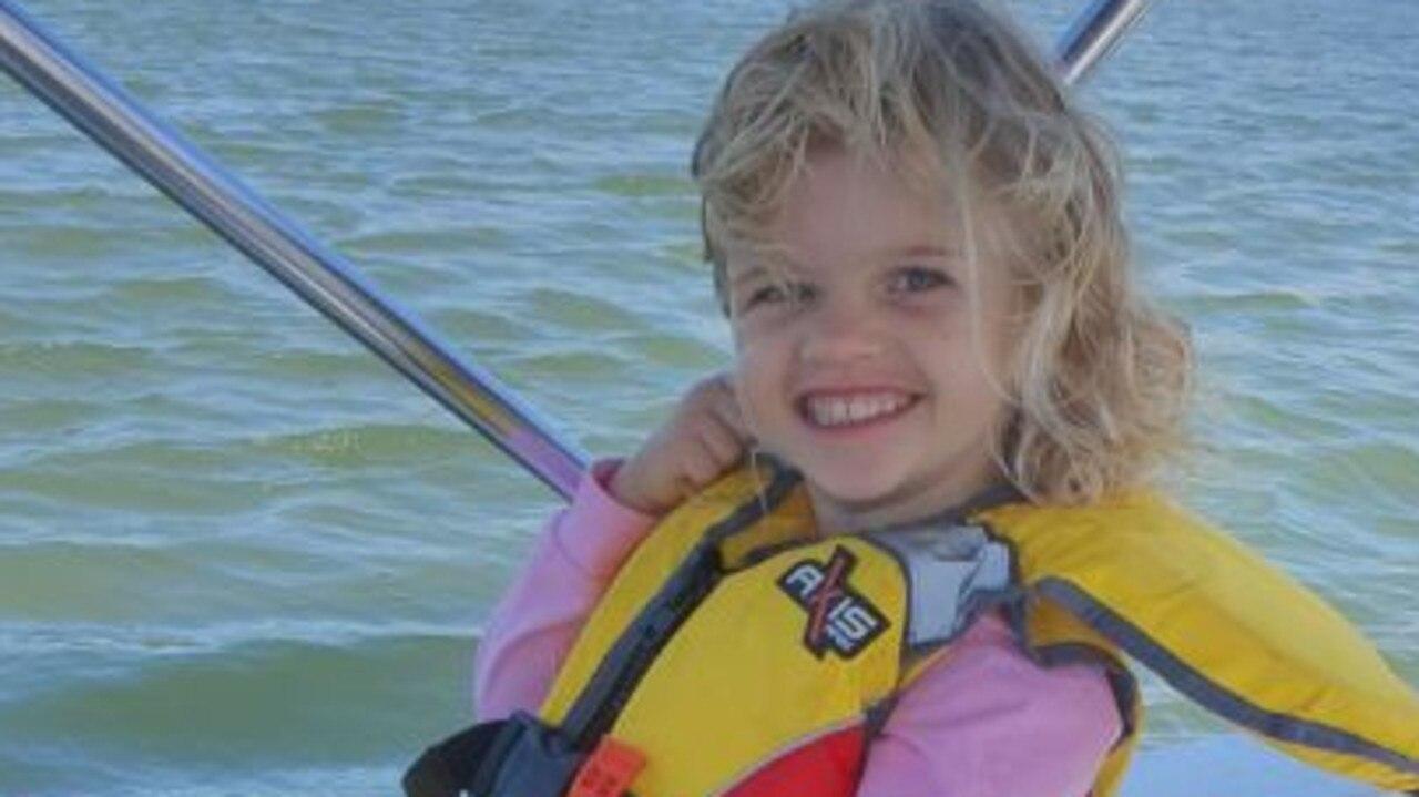 Gemma Petith, 5, fishing on the Pioneer River in Mackay.