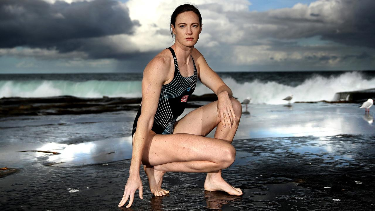 Cate Campbell and the spectacular backdrop of Dee Why beach.