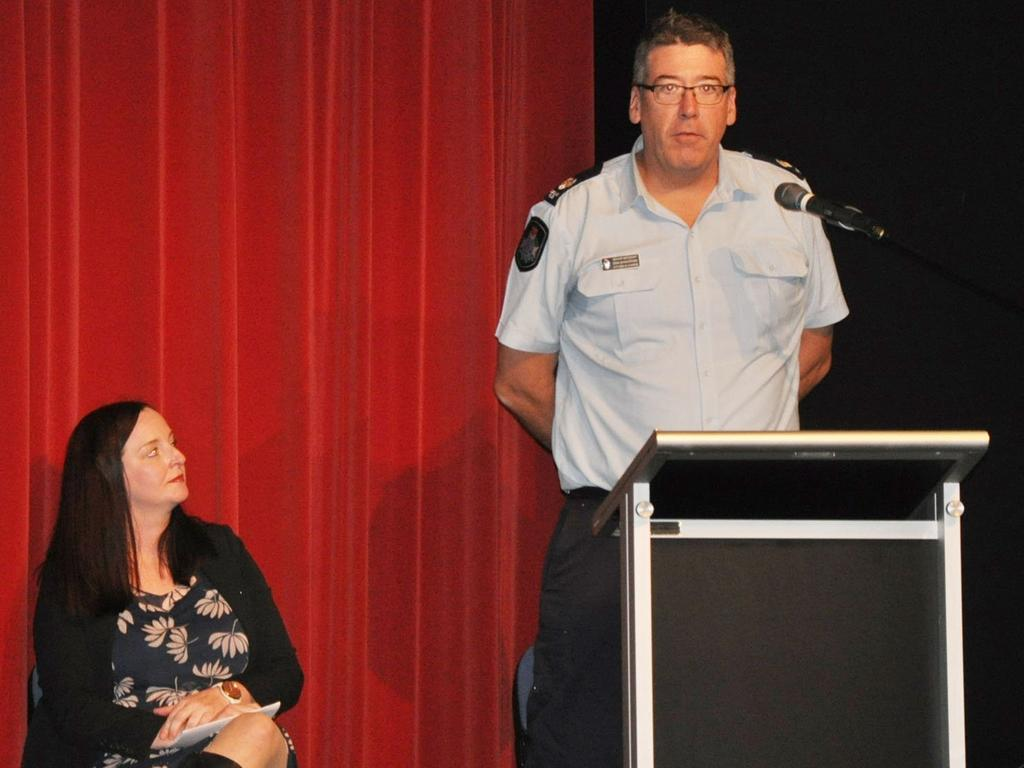 Member for Keppel Brittany Lauga listened to crime statistics from Yeppoon Police Officer in Charge Senior Sergeant Erin Shawcross at a forum held last year to combat youth crime