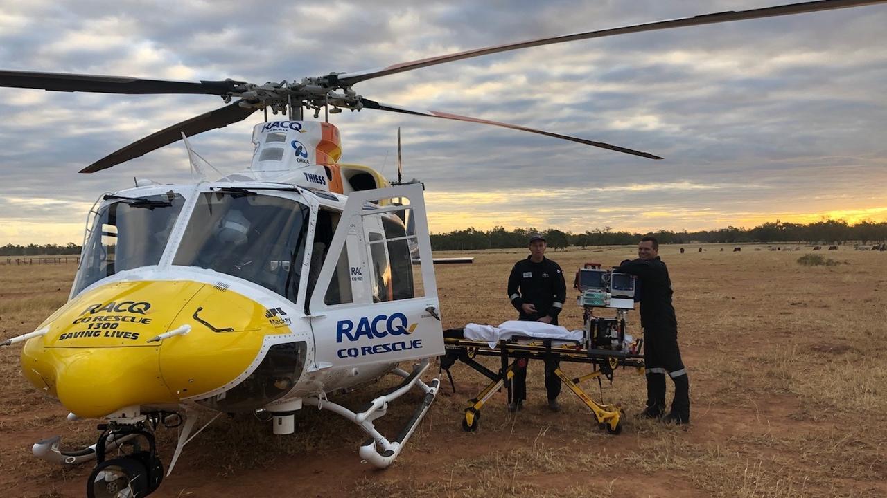A Queensland Ambulance Service spokesman said paramedics were treating the man after the significant crash on Yakapari-Seaforth Rd at 12.40pm.