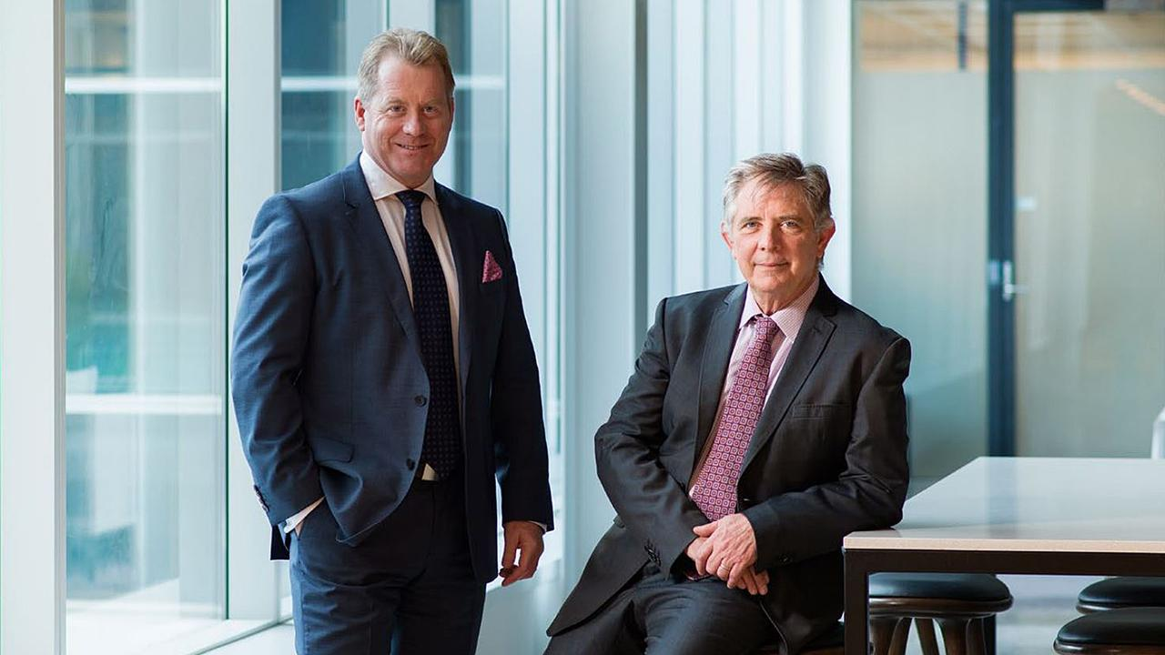 CS Energy CEO Martin Moore (left) and Chairman Ross Rolfe.