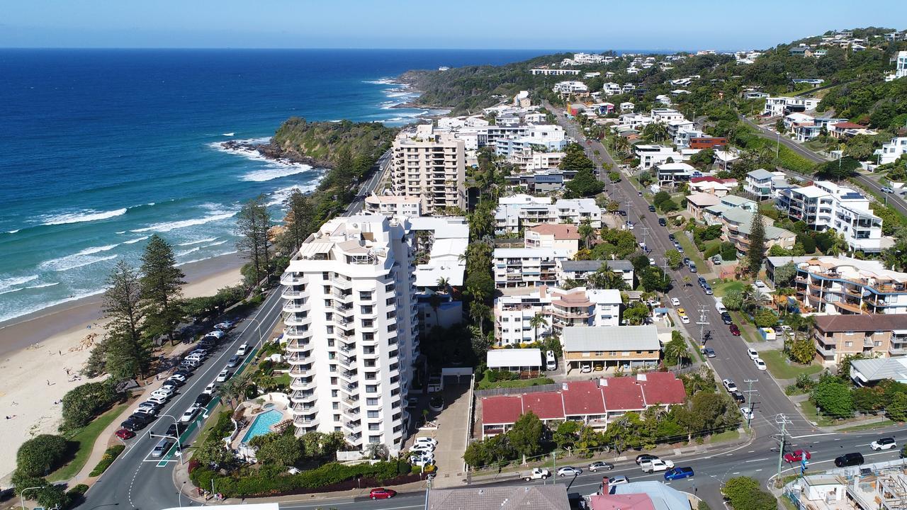 Aerial photos of Coolum Beach. Photo: Patrick Woods