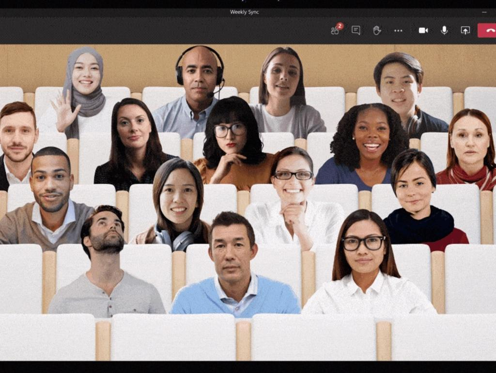 Together Mode has been found to reduce online meeting fatigue. Picture: Supplied