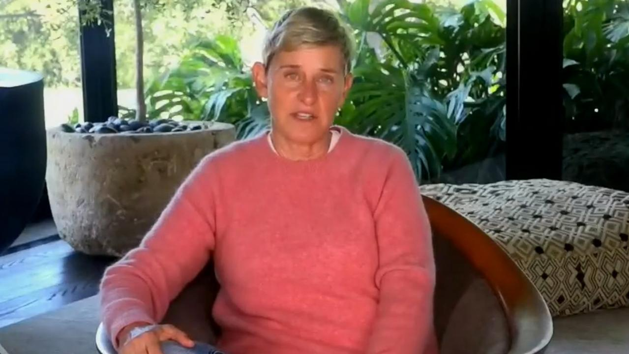 Ellen's quarantine joke did not go down well with viewers. Picture: YouTube.