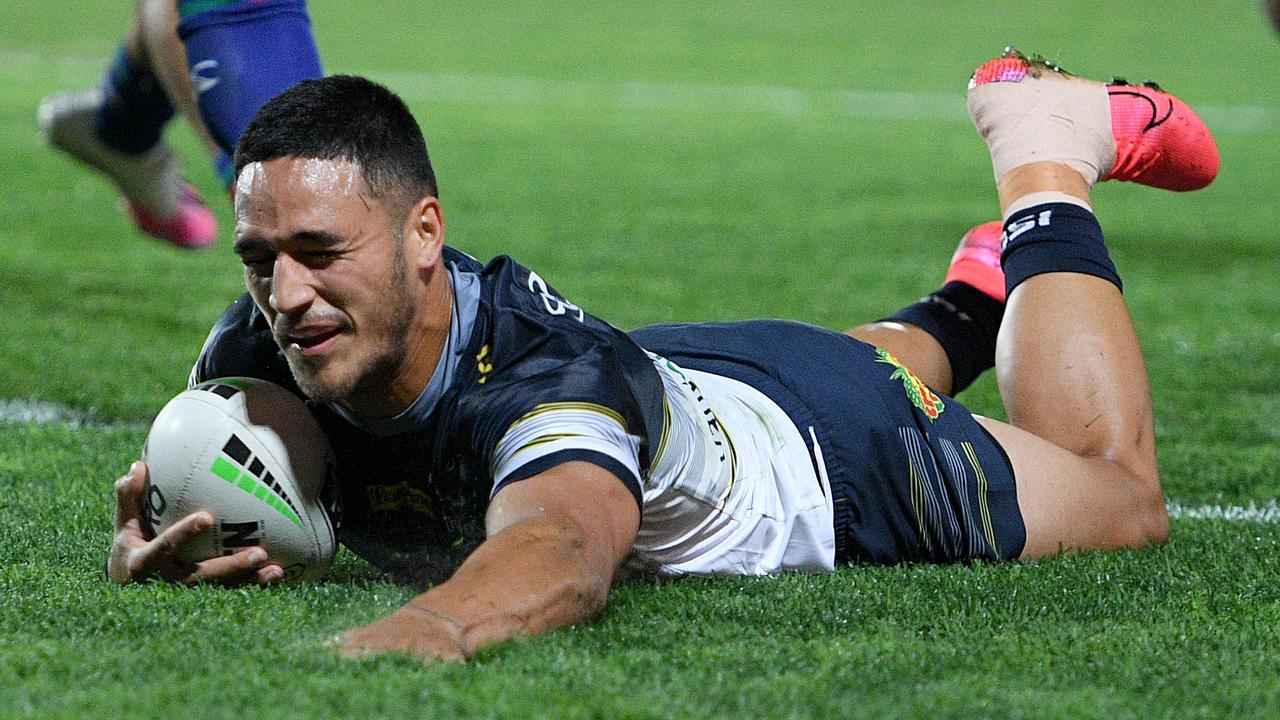 An ankle injury to Valentine Holmes opened the door for young footballers to get their starts including Hamiso Tabuai-Fidow and Daejarn Asi. (AAP Image/Dan Himbrechts)