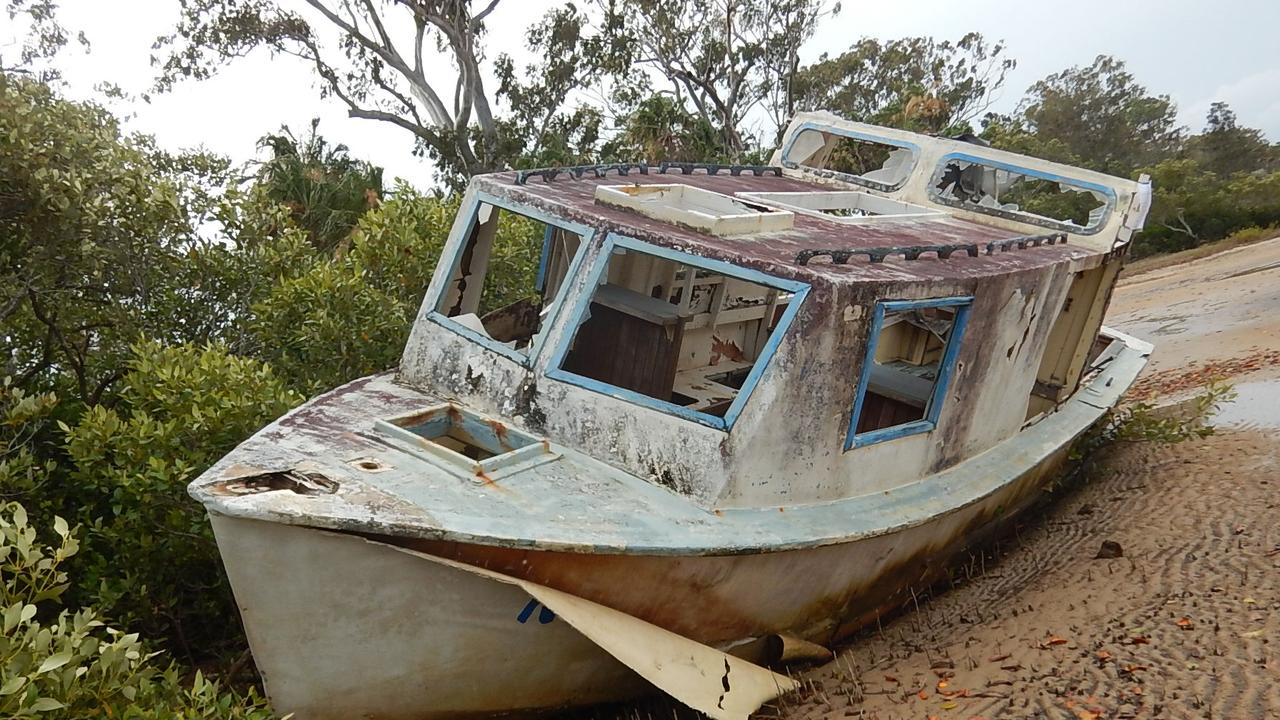 A boat hauled as part of the War on Wrecks program. Picture: QLD Government