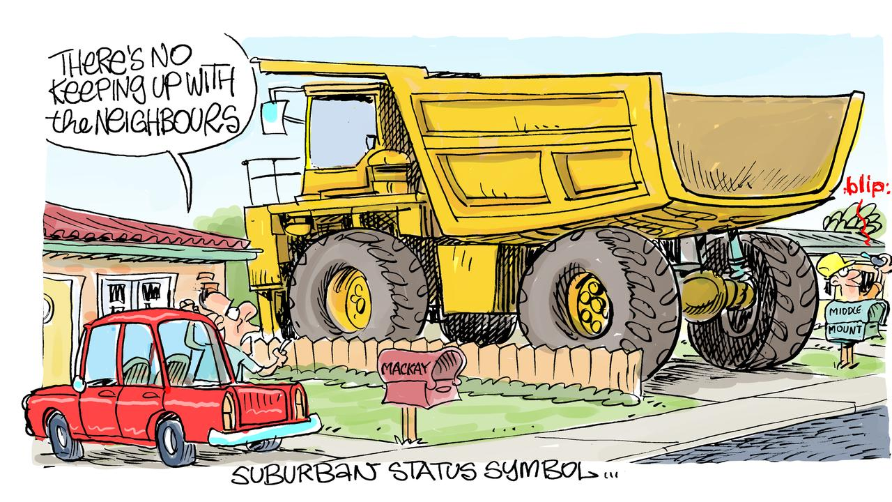 Cartoonist Harry Bruce's take on Middlemount being named as the region's top earning postcode by the Australian Taxation Office. The new income data released by the ATO found that Isaac towns far out-earned the rest of the region.