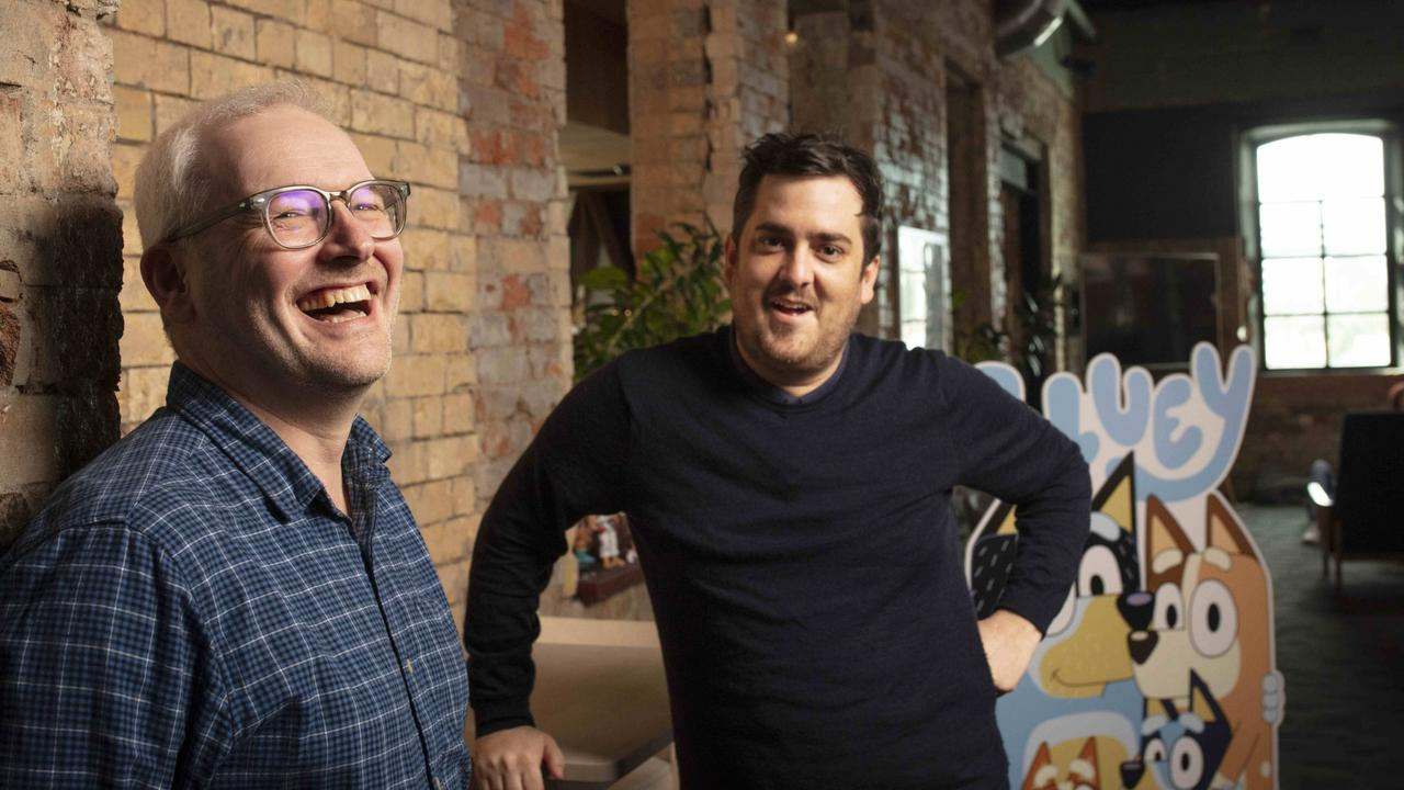 Ludo Studio co-founders Daley Pearson (R) and Charlie Aspinwall (L). Picture: Russell Shakespeare