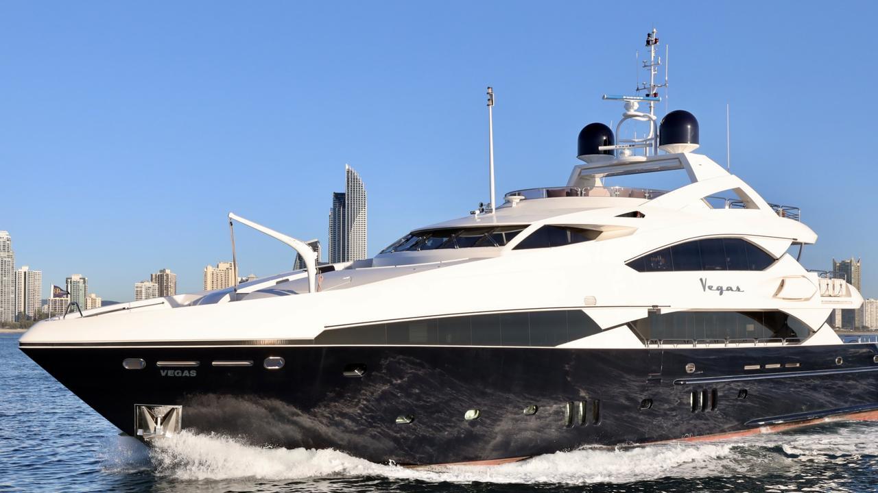 The 121ft Sunseeker superyacht Vegas.