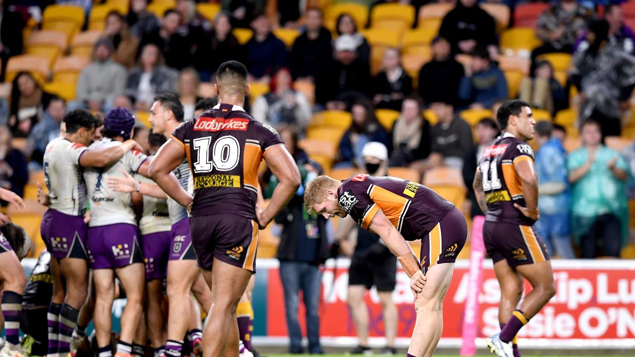 Seibold says Broncos young players are learning some tough lessons right now. Picture: Getty Images.