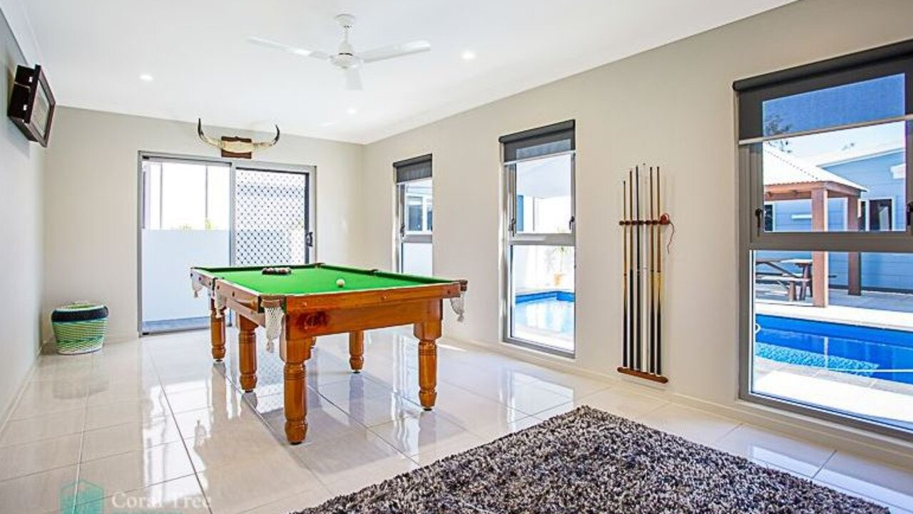 This games room is just footsteps from the pool. Picture: realestate.com.au