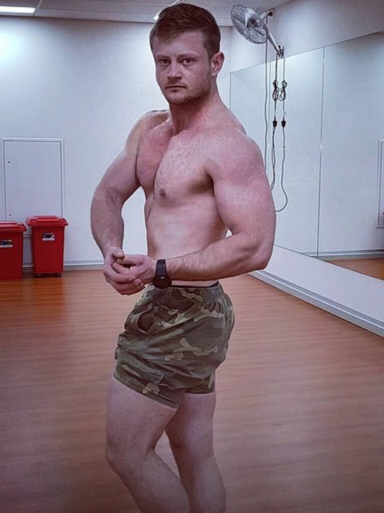 James Bartolo says he's a former Australian Army soldier and competitive bodybuilder.