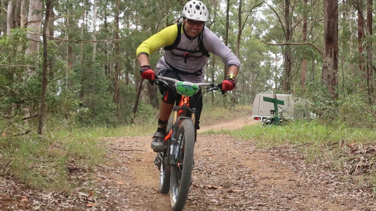 Action from the 2017 Trailstar Woolgoolga Enduro mountainbike bike event. MTB riders on the Coffs Coast have had a tough week.