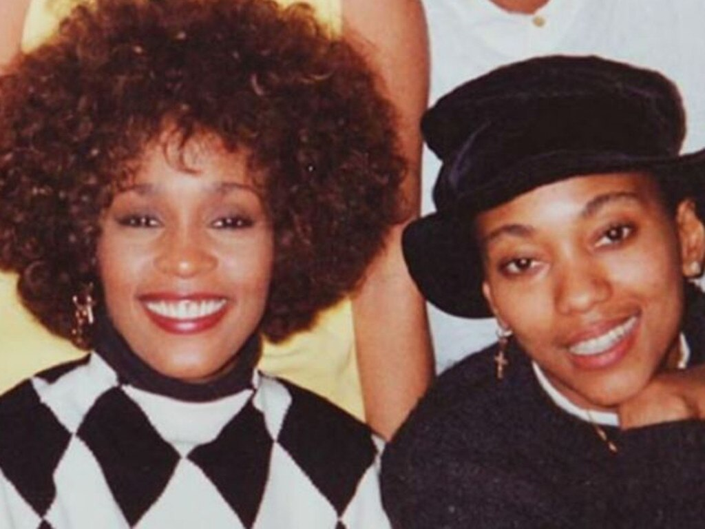 Whitney Houston and her rumoured lesbian lover, Robyn Crawford.