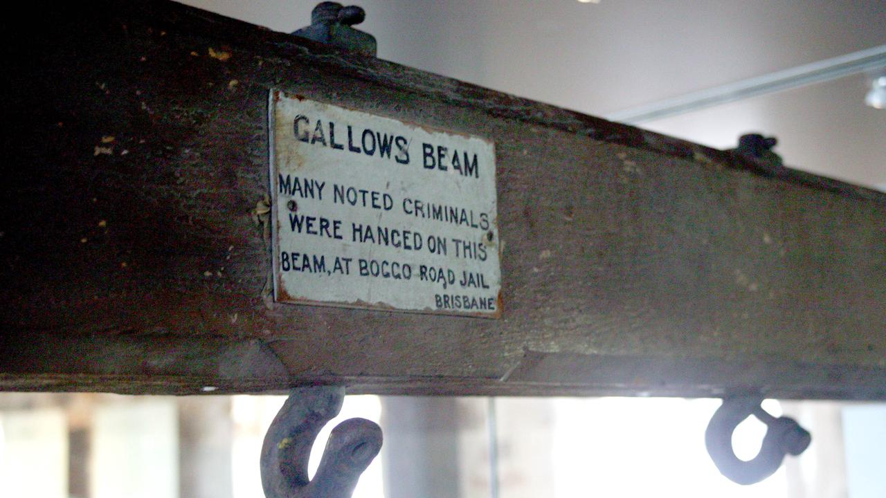 The Gallows Beam, once used to hang people at Boggo Road Jail. Picture: News Corp Australia