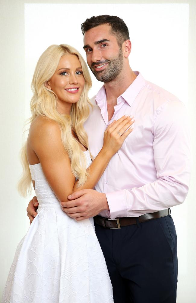 Bachelorette Ali Oetjen with her chosen man Taite Radley in 2018. Picture: Tim Hunter.