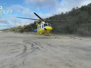 Rescue chopper at fatal Fraser crash