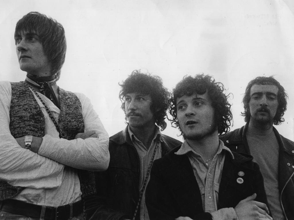 Fleetwood Mac's early line up is, from left to right; Mick Fleetwood, Peter Green, Jeremy Spencer and John McVie. Picture: Getty Images