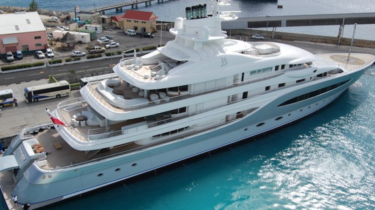 The Mayan Queen IV in Barbados. McNamara was on this superyacht. Picture: www.superyachttimes.com